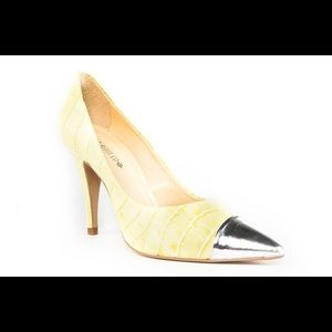 Top Heels Co Heaven Yellow Pumps